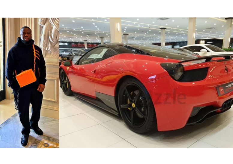 Hushpuppi, who is popularly known for his flamboyant lifestyle has acquired another luxurious whip… The flamboyant Nigerian big boy took to his Instagram page to show off a brand new red Ferrari and wrote: 'It's a Rarri baby ? Limited Edition 1 out of 10  #MyNewBaby  #Ferrari #Number4. '
