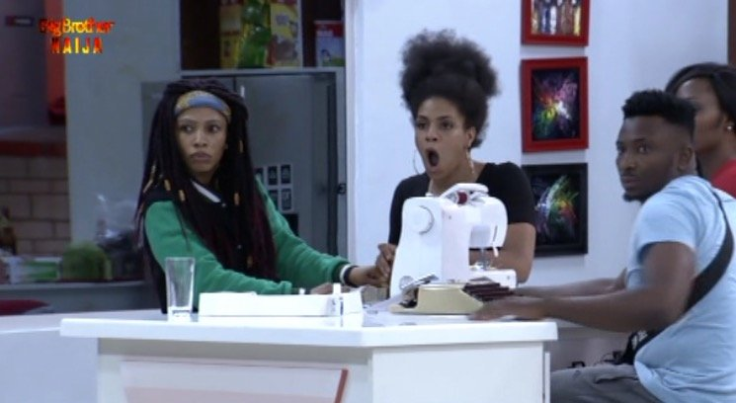 Still on BBNaija Twist As Biggie Adds Another Pepper To The House And Her Name Is Enkay, A Fashion Designer See the look on Mercy's face and Venita's mouth as Enkay storms the BBNaija house.