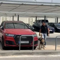 These photos shows the moment Lionel Messi and Luis Suarez's cars were checked for bombs at Barcelona's El Prat airport yesterday, following a phone call made to the emergency services on Tuesday. The call claimed that there was a suspicious package under the cars belonging to Barcelona teammates Messi and Suarez. But after being checke