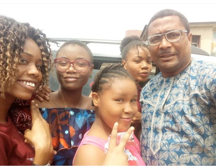A-list Nollywood actor, Tony Umez shares lovely picture with his 4 beautiful daughters describing them as his princesses.