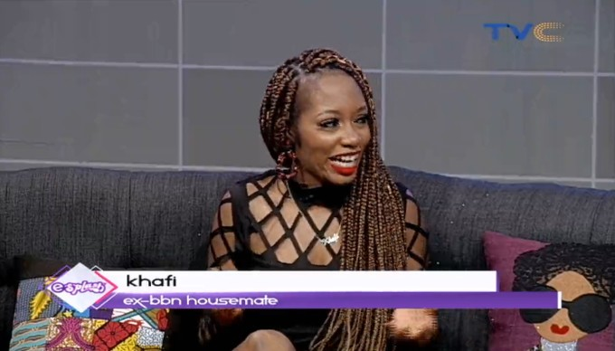 """Newly evicted BBNaija housemate, Khafi has reiterated her stance that she and Gedoni didn't have sex during the reality TV show. In an interview with Esplash on TVC, Khafi stated that though they both went under the duvet, nothing like intercourse happened. According to her, """"I'm celibate, it was very shocking to me when I came out of the house. I and Gedoni didn't have intercourse. I know what happened under the duvet """"I no do, I no do."""""""