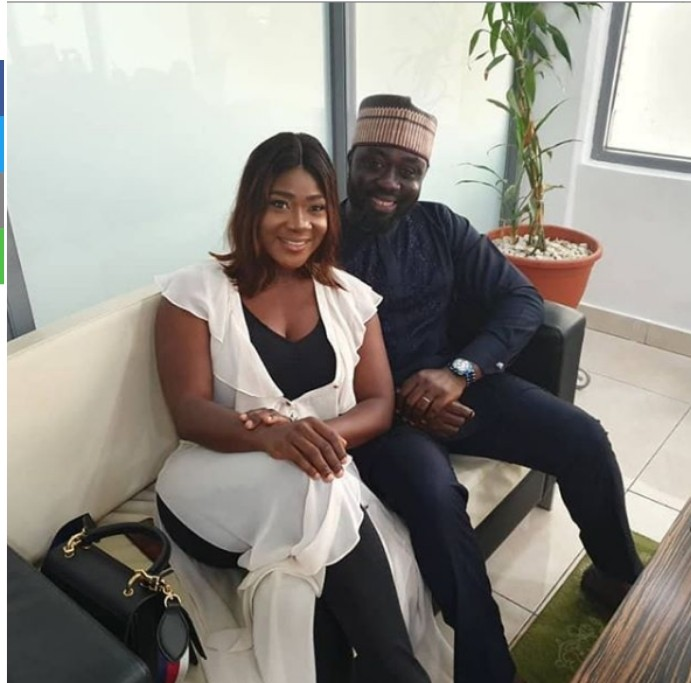 Nollywood actress and proud mother of three, Mercy Johnson took to Instagram to share this lovely photo of herself and husband, Prince Okojie posing together with the caption;  'My Strength and Pillar……..My paddy ….Omi Ojie.'