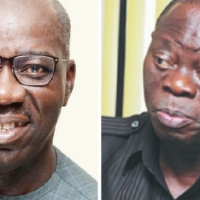"""The National Chairman of the All Progressives Congress, Adams Oshiomhole, says the Governor of Edo State, Godwin Obaseki, sacked the only commissioner he nominated into his cabinet. Oshiomhole, who is the immediate past governor of Edo State, said this during an interview on Channels Television on Saturday. He said the irony was that Obaseki took the drastic action after a reconciliatory meeting which was attended by some APC stalwarts including Governor Atiku Bagudu of Kebbi State. The APC chairman said, """"We have no argument over money or appointment… In the meeting we held with four governors, including Governor Bagudu, I asked the governor, how many commissioners I nominated into his cabinet. He agreed that I only nominated one person out of more than 20 commissioners. """"Not many Nigerians will believe that because for me I was out of government and I have convinced myself that the day I step out of government, that is it. After that first meeting, the governor decided to remove that one commissioner along with seven others. But that is not my business."""" Oshiomhole, who has been at loggerheads with his successor in the last couple of months, said he was also disturbed that Obaseki decided to abandon some of his projects. The former, however, assured his successor that he was not under any threat. He said, """"The governor can never tell you that I have interfered in his choice of projects and so on. The only thing I feel a bit worried about is that some of the projects we started together have been abandoned. There is no way to solve disagreements without talking to the aggrieved parties. """"Let me assure you. This governor is not under threat. It is those who make money from crisis, those I call merchants of confusion, who can tell the governor that he wants to be impeached. What will I gain if Godwin does not run a second term?"""" Obaseki and Oshiomhole's feud deepened in June when the former issued a letter of proclamation for the inauguration of the House of Assembly"""