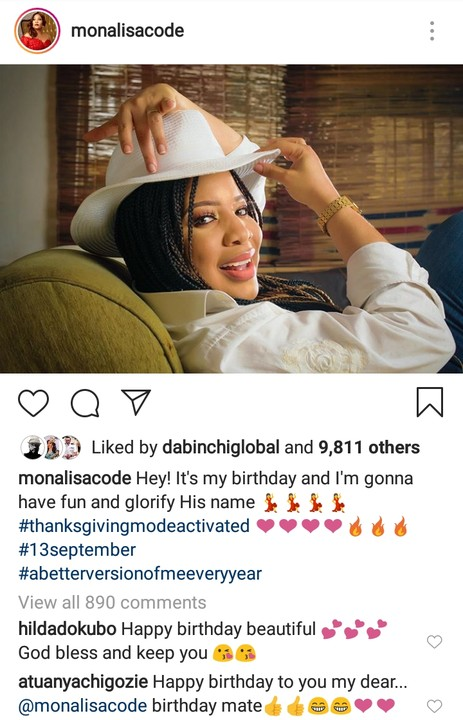 Beautiful Nollywood actress, Monalisa Chinda – Coker turns 45 today. The mother of one shared a cute photo to mark her birthday.  Monalisa Chinda (born 13 September 1974) is a Nigerian actress, film producer, television personality and media personality.  Monalisa Chinda was born in Port Harcourt, Rivers State to Ikwerre parents. She is the first born in her family of two sons and four daughters. She attended Army Children's School GRA for Primary and then Archdeacon Crowther Memorial Girls' School, Elelenwo. Both schools are located in Port Harcourt, Nigeria. She obtained a degree in Theatre Arts from the University of Port Harcourt.  Monalisa's first major movie was Pregnant Virgin, which she did in 1996 and subsequently, after she graduated in 2000, she did Above the Law and has done many others since then.