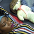 Seems she's not over Gedoni evicted from the house, she's really missing his warm curdle, and presence in bed with her She even wore Gedoni's famous cap for the teddy bear…. lol