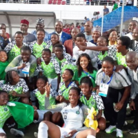 Super Falconets beat Cameroon 3-2 on penalties to win the Gold medal in the women's football event at the ongoing 12th All Africa Games on Thursday night at the Boubker Aamar Stadium. The final ended goalless at the regulation time and extra time with Nigeria dominated play in the first half, while the Cameroonians held sway after the break. Penalty shoot-out followed Falconets bounced back from two misses in three attempts thanks to three consecutive saves made by young goalkeeper Chiamaka Nnadozie to secure a 3-2 win and it is the first time Nigeria claimed the ultimate prize in the African Games since the 2007 edition in Algiers. The team have also now won Gold medal thrice in five attempts but Flying Eagles will take on Burkina Faso in the final on Friday in the men's football event.