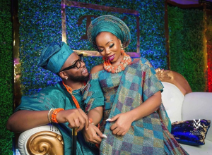 When a man finds a wife, the bible says he find a good thing and obtains favor from the lord, and so is the same for BBnaija love birds , Bambam and Teddy A.  Bambam whose real name is now officially Bamike Olawunmi-Adenibuyan took to her instagram page moments ago to share this love all in the air photo from her traditional wedding to Teddy A last weekend.