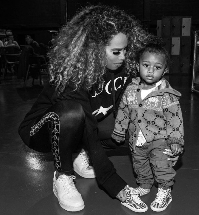 Lovely New Photo Of Wizkid's 3rd Baby Mama And Son, Zion Wizkid's third baby mama, Jada P and their son, Zion strikes a pose…