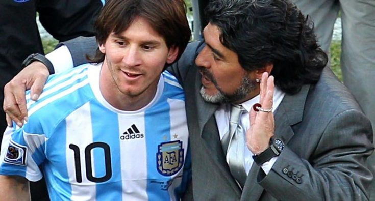 Diego Maradona has revealed how he helped teach Lionel Messi how to take free-kicks during his time as coach of La Albiceleste of Argentina.  Maradona stated that during the period between 2008 and 2010, Messi sort his assistance over how to take free-kicks.