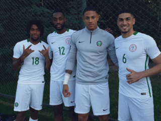"""The 19-year-old Fortuna Düsseldorf goalkeeper, plus Club Brugge forward Emmanuel Dennis, Rangers midfielder Joseph Aribo and Bordeaux striker Joshua Maja all hoping to make their Nigeria debut slated for the Dnipro Arena on Tuesday night.Okoye was part of the training session along with the 20 other players took his social media saying: """"First session with the Super Eagles, Alex Iwobi and Leon Balogun. Thank God,"""""""