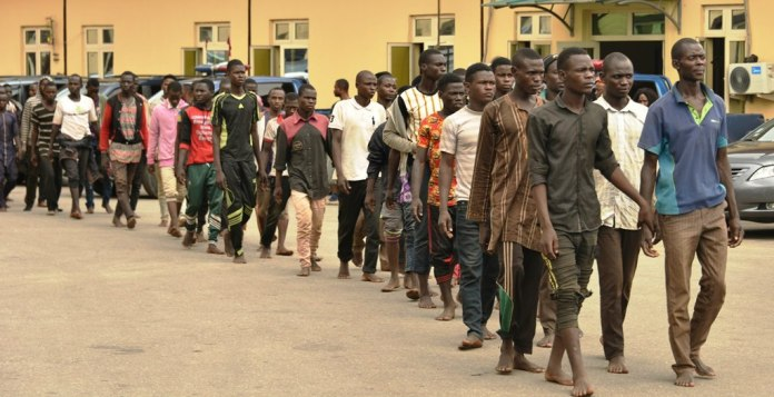 The Lagos State Police Command has released the 123 men who were intercepted in a truck with 48 bikes by Lagos State Environment Sanitation and Special Offenses Taskforce.  According to the Lagos State Environment Sanitation and Special Offenses Taskforce, the men were coming from Jigawa State.  The truck was seized at Agege area of the state following a tip-off by members of the public who raised security concern about the manner with which the occupants of the truck conducted themselves.  Leakers.ng learnt that after the interception, the truck and its occupants were moved to the office of the taskforce in Oshodi for interrogation.  After the interception, the truck and its occupants were moved to the office of the taskforce in Oshodi for interrogation.  According to the chairman of Lagos State Taskforce, Yinka Egbeyemi, some of the men said they came to Lagos in search of greener pastures.  Egbeyemi said that the Lagos Police Command had directed that a fact-finding panel be constituted to profile the detained occupants of the truck, but he added that nothing incriminating was found on them apart from the motorcycles.  Police Public Relations Officer (PPRO), DSP Bala Ikhana, who spoke with Daily Trust after their release said after profiling of the men, nothing incriminating was found on them.  He said the suspicion and subsequent interception of the truck arose from the manner they came in, in large number sardined in a truck.  Former Director-General of the Bureau of Public Service Reforms, Joe Abah, in a tweet on Saturday, criticised Lagos authorities over the interception.