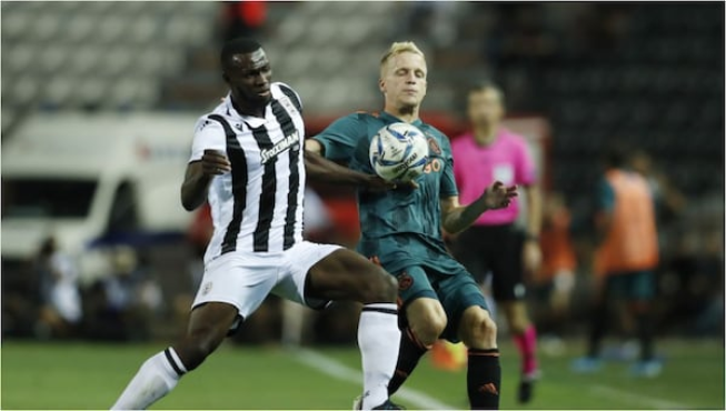 Super Eagles coach Gernot Rohr has replaced injured Leicester City midfielder Wilfred Ndidi with PAOK star Anderson Esiti for the September 10 friendly encounter against Ukraine in Dnipro.  The German tactician recalled the 25-year-old Warri-born who has featured twice for the three-time Africa Champion in 2016, while Lokomotiv Moscow left-back Brian Idowu returns to the national team after nine months after his last international outing against Uganda at Stephen Keshi Stadium.Esiti joined Greek champions from Belgian outfit, KAA Gent last month and has already established himself as a key member of the side coming into Super Eagles after Ndidi picked up a hamstring injury in training last week and missed Leicester City's 2-1 victory over Sheffield United on Saturday.Nigeria Football Federation made the announcement via their Twitter handle ahead of the battle against Ukraine during at Dnipro Arena.   Gernot Rohr will now travel to Kyiv with 24 players to execute the international friendly against the Eastern European nation that will be played on Tuesday, September 10.