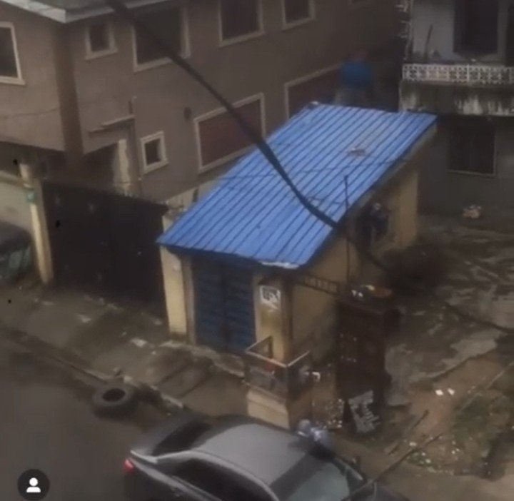 """This is the Mo'Dogg Studio, where Wizkid started his musical career from.  Wizkid made reference to this studio in his hit song """"Ojuelegba"""".  In the song, he said:  """"Ni ojuelegba They know my story, from Mo'Dogg's studio I be hustle to work, ehh"""".  But the studio is no more in that shop and it's now a hair salon."""