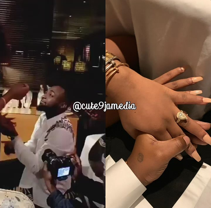 Nigerian Pop star, Davido has finally proposed to his long time girlfriend, Chioma after dating fir Five years.  Recall that last week, Davido announced to his fans after an Introduction ceremony with Chioma's family that they should get ready for an elaborate wedding cime 2020.
