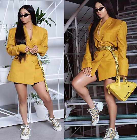 Toke Makinwa Tensions Instagram With New Stylish Photos   The media personality is tensioning Instagram with new stylish photos she shared on her page.