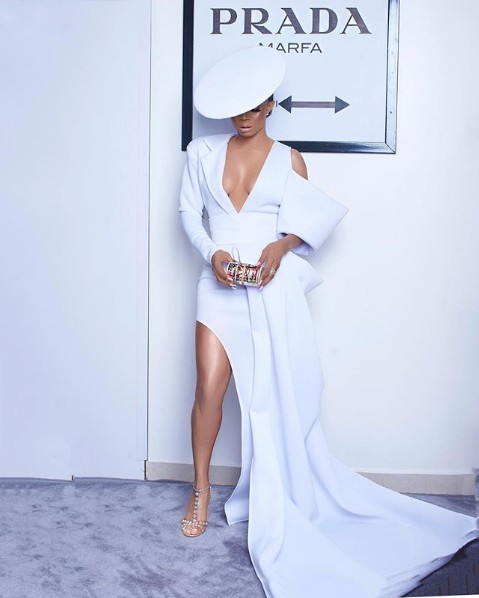 Popular Nigerian on air personality, Toke Makinwa looks stunning in a lord Raiden inspired outfit…