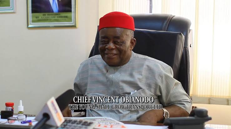 """""""They Illegally Trespassed On My Land"""", Young Shall Grow CEO Cries Out  Chief Vincent Obianodo; owner of The Young Shall Grow Motors has filed a suit at the Lagos State High Court against the Chairman of Amuwo Odofin Local Government, Valentine Buraimoh, for illegal, forceful trespass of land belonging to his company, Vinee Oil Nigeria Limited  The said land/property which is lying situate at Second Avenue, Opposite Old NEPA Office, a stone throw from 22 Road junction, FESTAC Town.  In the suit before the honourable court, the 73-year-old transporter is praying the Lagos State High Court, Lagos Division, for an interlocutory injunction restraining further action on the land by the council, pending the determination of the case. He is also seeking N100 million damages for the alleged trespass."""