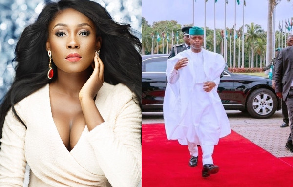 "Jenifa's Diary star, Lota Chukwu turned on her savage side as she reacted to Vice President Yemi Osinbajo's 'agbada swag' to the Independence day celebration. Reacting to a photo of the Vice President shared by an All Progressives Congress political analyst @DOlusegun with the caption ""VP out here pressing necks"", Lota Chukwu asked Yemi Osinbajo and other political elites to press infrastructure, police brutality, harassment, security, the economy and other issues affecting the country with same energy because we didn't vote in Ebuka."