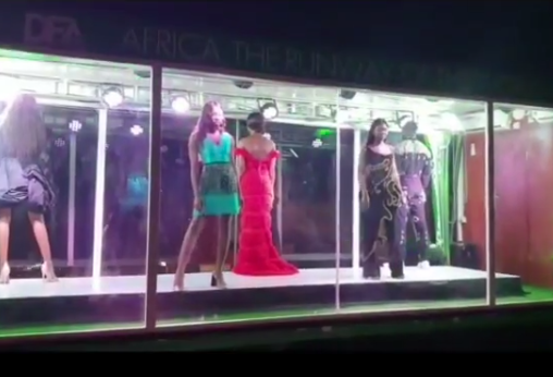 The glass van runway that has been buzzing on the social media for days now was discovered to be a promotional stunt by DFA – Design Fashion Africa, to promote the fashion and design platform which opens today (October 3rd, 2019) at Eko hotels and suites with the market place, master classes and conference.  The DFA runway will showcase on Saturday, October 5th, featuring designers and models from across  Africa countries like; South Africa, Kenya, Ethiopia, Senegal, Nigeria, etc, with special performers by Burna boy and Tiwa Savage.  The show will be broadcast live on spice TV and Soundcity from 8pm. The DFA is being promoted by Oracle Experience and JP.
