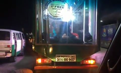 Months after Nigerian singer, Tekno went viral for shooting a music video with strippers dancing in a transparent van, another similar van has been spotted in Lagos.  This time, the van is loaded with models showing off their cat-walking skills.