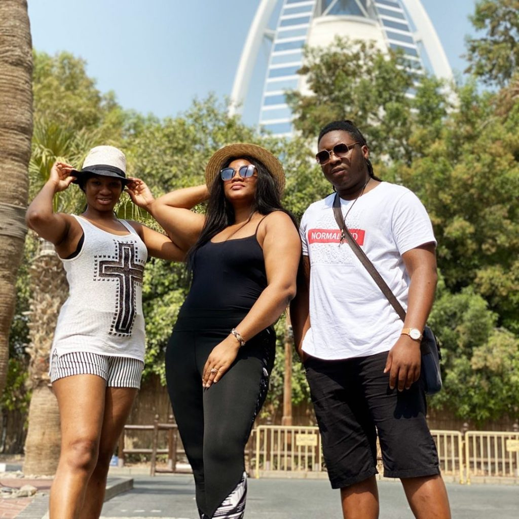 Nollywood actress Omosexy shared these photos with her grown up son and daughter, Captain E and Princess.