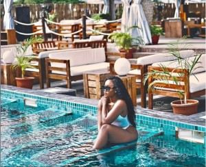 Big Brother Naija star, Cee-C, who clocked 27 yesterday took to Instagram to share these sexy photos of herself posing at the pool while clad in a white swimsuit…