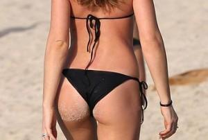 [+18 Only]:- Abigail Clancy Wearing Sexy Bikini On A Beach