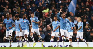 Sergio Agüero and Kyle Walker score late goals as Manchester City come from behind to beat Southampton 2-1 in the Premier League fixtures at Etihad Stadium on Saturday evening. James Ward-Prowse's 13th-minute strike put the visitors ahead after Ederson howler, had been protected admirably by Saints for nearly an hour as City hogged the ball but could find no way through. But then Sergio Agüero's volley from Walker's cross gave the Argentinian's 13th goal of the season and the latter's closing-moments before former Tottenham right-back struck with four minutes of normal time remaining when Angelino's cross was not cleared.Manchester City remain six points behind Premier League leaders Liverpool after fighting back to clinch a thrilling late victory over Southampton.