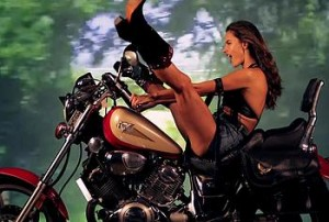 Alessandra Ambrosio is not just another babe from Brazil, this stunning fashion model is so talented when it comes to posing. Check out this glamorous Phil Poynter photo session and tell us what you think about it. Alessandra is dressed as a wild motor chick and that suits her so fine. Her cleavage and that pretty face will leave you mesmerized.
