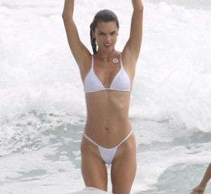 When you have a body like Alessandra Ambrossio, you'd better make sure you wear a hot bikini exactly like that and nothing less than th
