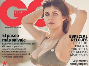 """Alexandra Daddario is one of the prettiest and sexiest female models nowadays. Her latest photo shoot was for """"GQ Mexico"""" in April this year. There she posed in amazing white bikini which suited her perfectly! If you desire to see how she looked at that time, simply follow through! You'll grant yourself full access to all pictures made that day and on every single one she looks very sexy!"""