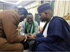 Christian Association of Nigeria, CAN President praying for Yaya Bello to be successful in Saturday's governorship election in Kogi…