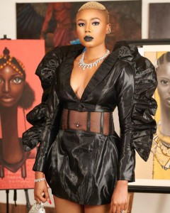 Check Out Actress Nancy Isime's Outfit To 'Living In Bondage' Abuja Premiere