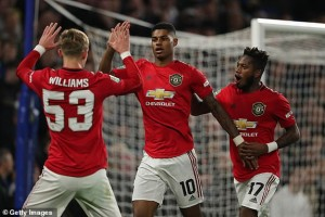United for the second time this season, defeated Chelsea, but not 4-0 like the last time at Old Trafford, but a 2-1 win at Stamford Bridge in a very entertaining match on Wednesday night in the Carabao cup. Two goals from Rashford with an effort from Batshuayi sandwiched in between, was enough for Ole Gunnaer Solksjaer to claim 3 away wins on the roll, just weeks after his job was at rid following poor performances in the premier league. Daniel James was brought down in the penalty box and Marcus slotted home the penalty to make it 1-0 in the first half. In the second half, Michy Batshuayi scored after woeful defending from 80 million pounds defender Harry Maguire leaving the Stamford Bridge faithful dreaming of a come back and eventual winner but Rashford stunned the home fans with his superb free kick leaving Lampard's men to lick their wounds and rue missed chances during the match. Man U have now qualified to the quarter final round of the Carabao cup..