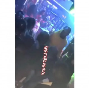 A video has surfaced online showing the moment popular Nigerian singer, Davido punched a man who was allegedly trying to take pictures with him at Club Boudoir in Dubai.