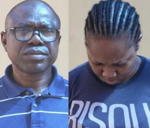 The EFCC, Lagos office, has arrested a couple, Rowly Isioro a former Assistant General Manager with one of the first generation banks (Name withheld) and his wife Ovuomarhoni Naomi Isioro, a business woman, for their alleged involvement in Business Email Compromise, BEC, and money laundering.