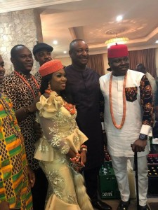Festus Keyamo's Sister, Miriam Weds Harrysong's Manager, Desmond Ike (Photo)  Miriam Keyamo, Minister of Labour and Employment Festus Keyamo's younger sister walked down the aisle with her heartthrob Demond Ike on Saturday November 23.