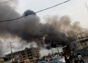 On Wednesday, November 20th the Akerele shopping Mall in Surulere, Lagos State went up in flames.  This is the latest in a series of markets that has been gutted by fire in the past month including the Balogun Market fire, Keffi Market fire, and others.