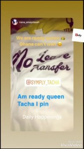 Tacha got honoured by her fans as they made a branded shirt of her in preparation for her arrival…