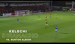 The 23-year-old's close-range finish against Burton has been shortlisted for the Foxes' best goal for last month Kelechi Iheanacho's League Cup strike against Burton Albion has been nominated for Leicester City Goal of the Month for October. The 23-year-old will compete with Jamie Vardy, Youri Tielemans, Ayoze Perez and James Maddison as well as Khanya Leshabela and Josh Eppiah for a chance to clinch the prize.