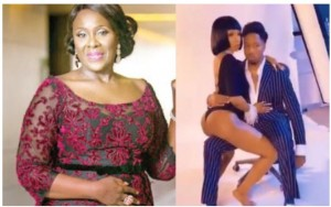 """Nollywood veteran actress, Joke Silva has reacted to BBN 2019 Ike and Mercy's cover photo.  Joke Silva expressed concern that the reality show winner was scantily dressed while her boyfriend was fully covered.  She wrote:  """"I really don't get this….the lady half exposed the man fully clothed….do we get the implication"""""""