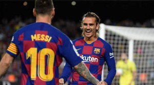 Reports in Spain have fueled suggestions that Lionel Messi and Antoine Griezmann don't see eye-to-eye by claiming they do not speak to each other in training.  Griezmann was a high-profile signing in the summer and has failed to connect with Messi since completing his £107 million transfer.  The struggles between Messi and Griezmann were plain to see on Tuesday as Barcelona fired blank against Slavia Prague in the Champions League.  Barcelona fans even think that Messi does not trust Griezmann after not passing to him.  And El Chiringuito report that Messi and Griezmann do not speak to each other in training, strengthening claims that they've clashed