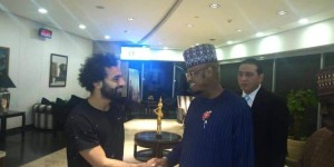 Liverpool Player, Mohammed Salah who is currently on an international break with his Egypt welcomed Nigerian Minister of Communications and Digital Economy, Honourable Dr Isa Pantami at Cairo Airport for official working visit in Egypt.