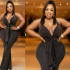 Curvy Ghanaian actress and socialite, Moesha Boduong took to Instagram to share these new sexy photos of herself posing in a black figure-hugging dress that showcased her massive curves.