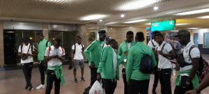 Olympic Eagles land in Egypt for the U23 Africa Cup of Nations ahead of November 9 clash with Cote d'Ivoire at Al-Salam Stadium. Head coach Imama Amapakabo led the team of 13 players and eight officials touched down at the Cairo international airport before immediately taken to the city of Ismaila, about 128 km away from the capital city were lodged at Mercure Hotel, the same place where the Super Eagles camped in Egypt during the Africa Cup of Nations in June.Olympic Eagles players went straight to the gym for Friday practice with Wolverhampton Wanderers striker, Bright Enobakhare and defender, Anthony Izuchukwu of Nest Sotra in Norway have both teamed up with the rest of squad in Egypt, while Austria-based forward Sunday Faleye is expected to arrive host nation later Friday from his base.