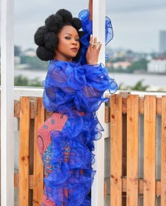 Omawunmi Rocks See-Through Blue Ruffle Dress (Photos) Singer Omawunmi steps out to an event in blue ruffle dress looking astonishingly gorgeous…