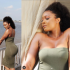 Actress Osas Ighodaro took to Instagram to put her curvaceous body on display while posing in a green strapless bodycon dress…
