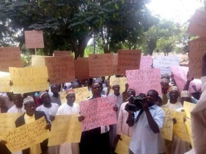 Some residents of Kano communities are currently embarking on a protest over Thursday's court judgment. PREMIUM TIMES reported how the Kano high court nullified the creation of four new first-class emirates by the state government.