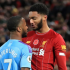 Manchester City striker Raheem Sterling has been dropped from England's European Championship qualifier against Montenegro after a physical confrontation with Liverpool's defender Joe Gomez.