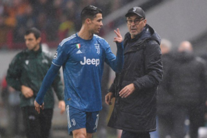 Juventus striker Cristiano Ronaldo was upset with Maurizio Sarri's decision following his substitution during the closing stage of the 2-1 win over Lokomotiv Moscow in the Champions League on Wednesday.